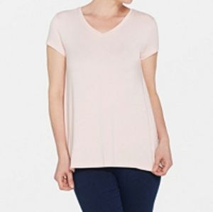 H by Halston XL Pink V-Neck Top